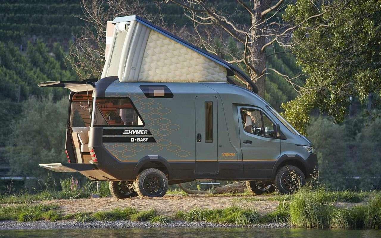 Кровать подкрышей ипанорамные окна— вот автодом будущего— фото 995113
