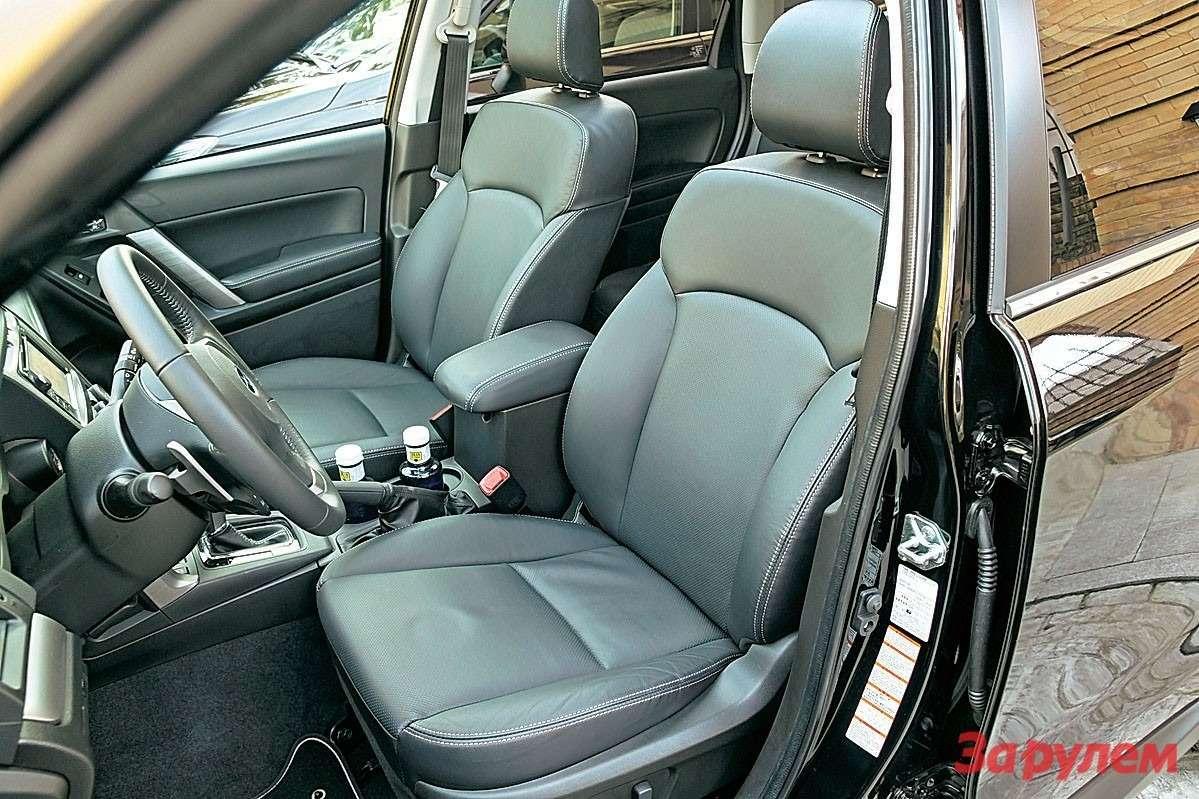 У водительского сиденья увеличена не только высота спинки (+60мм), ноидиапазоны регулировок, особенно продольной.