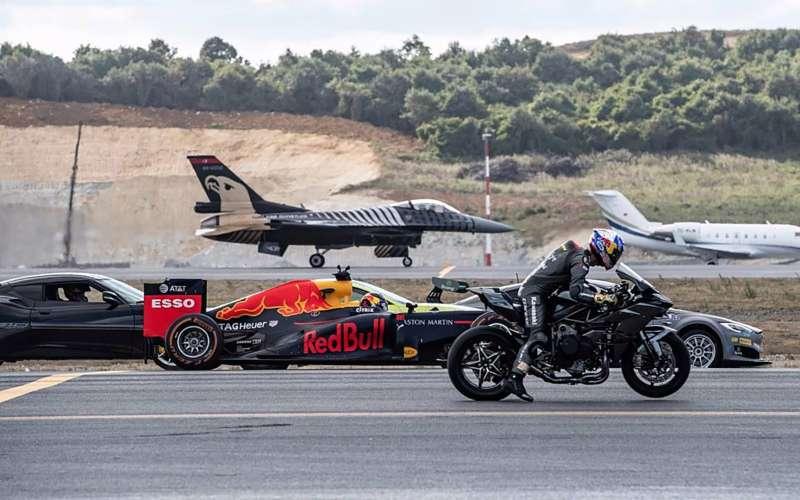 Болид Ф1, истребитель, супербайк, спорткары иэлектромобиль: кто быстрее? Результат вас удивит!