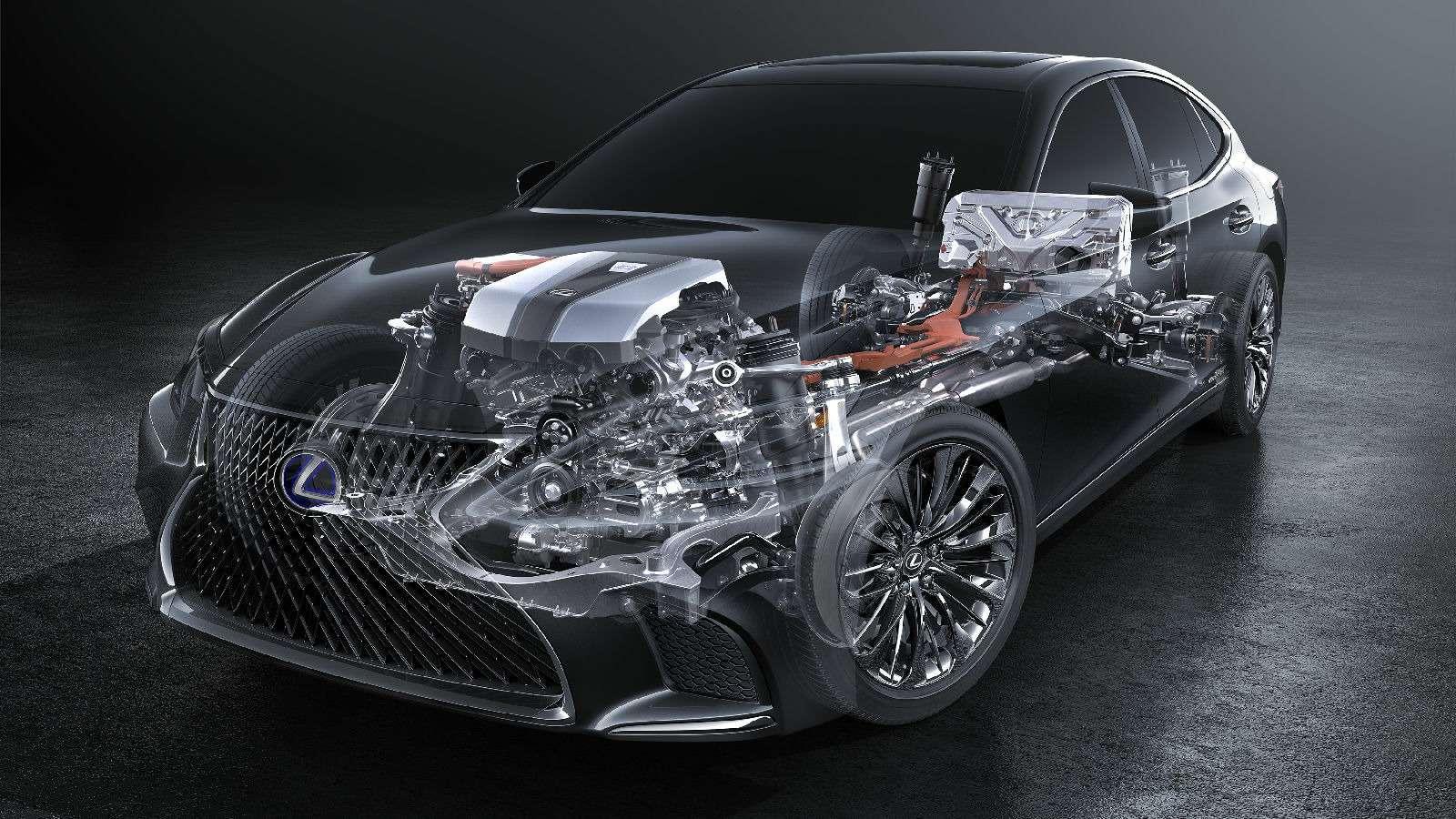 Новый Lexus LSпредстал вЖеневе вгибридном исполнении 500h— фото 718355