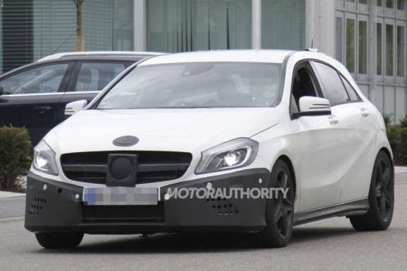 Mercedes-Benz A45AMG test prototype side-front view
