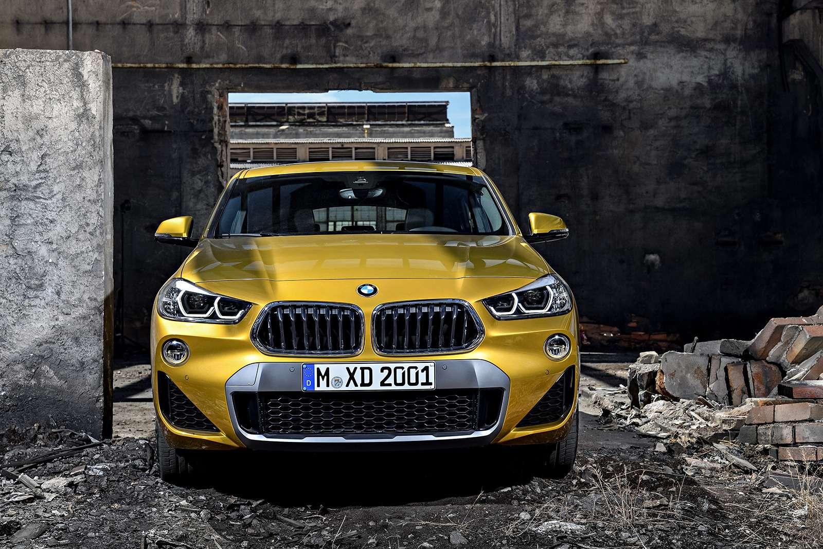 Мал, даудал: BMW рассекретила кроссовер X2— фото 809832
