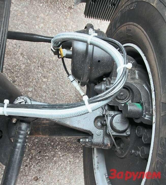 Навсех осях КАМАЗ-5490 будут дисковые тормозные механизмы