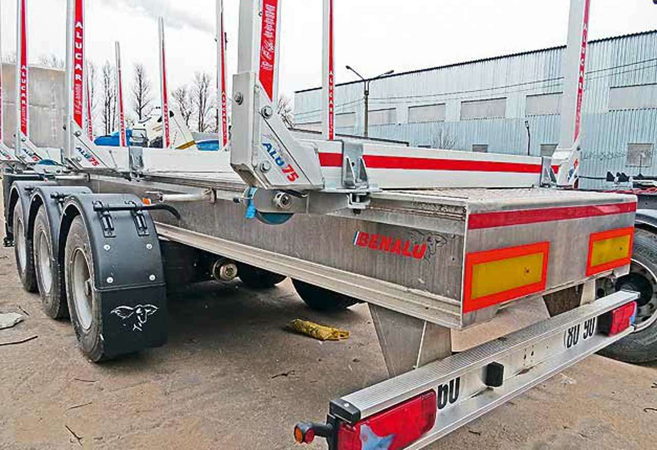 Алюминиевые прицепы-лесовозы Benalu: больше груза заодин рейс— фото 1138186