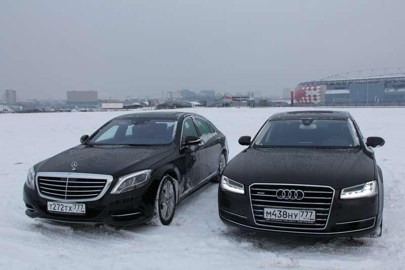 Mercedes-Benz S-класса против Audi A8