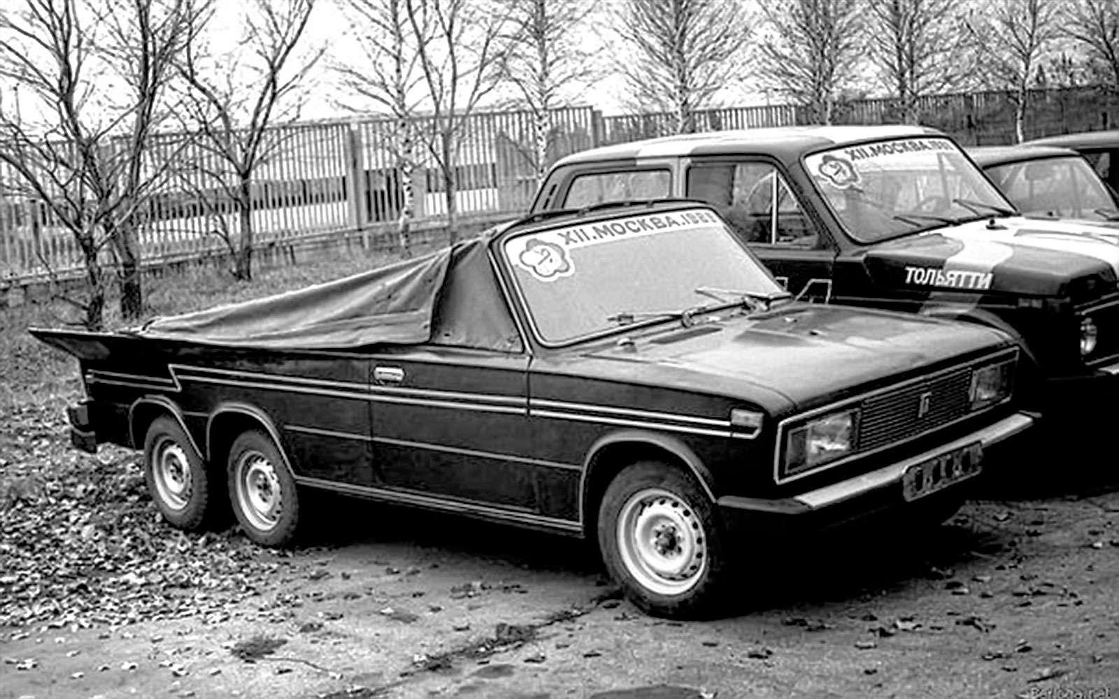 Трехостный кабриолет набазе ВАЗ-2103