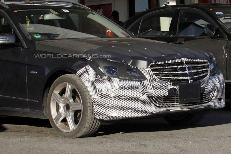 Mercedes-Benz E-class T-Model test prototype front end
