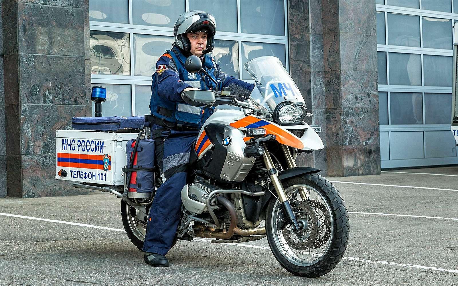 Мотоциклист МЧС