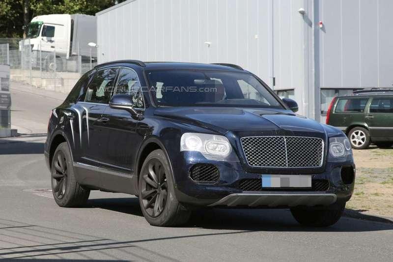 Шпионские фото прототипа Bentley Bentayga