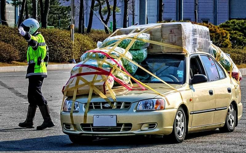 Перегруженный автомобиль