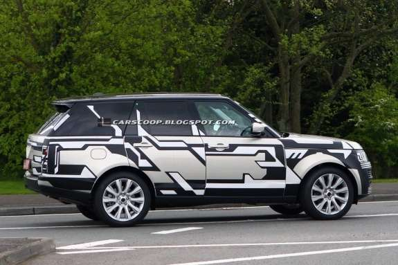 New Land Rover Range Rover test prototype side view