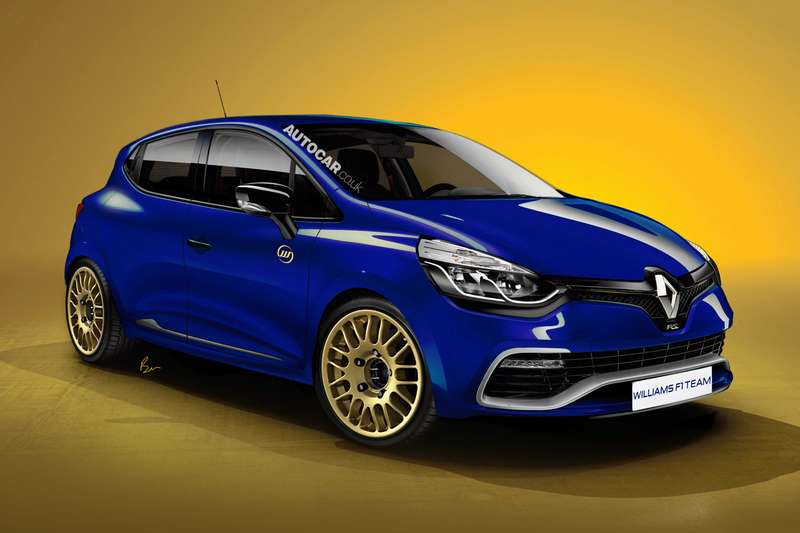 Renault Clio Williams rendering byAutocar side-front view_no_copyright