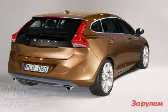 Volvo V30 rendering by Autocar side-rear view