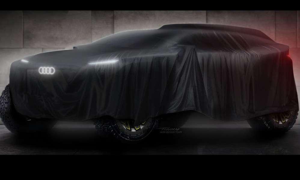 Ауди выставит на«Дакар» электромобиль. Сзарядкой отДВС