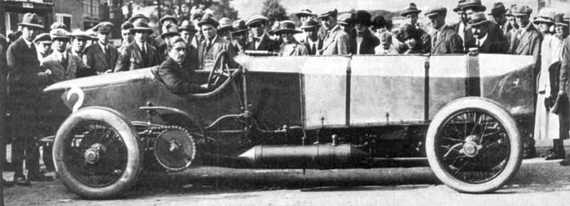 Count Zborowski With Chitty Bang Bang 1 At Brooklands