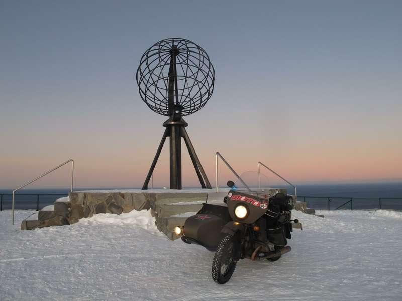 Мотоцикл Ural Patrol побывал этой зимой всамой северной точке Европы— намысе Нордкап_no_copyright