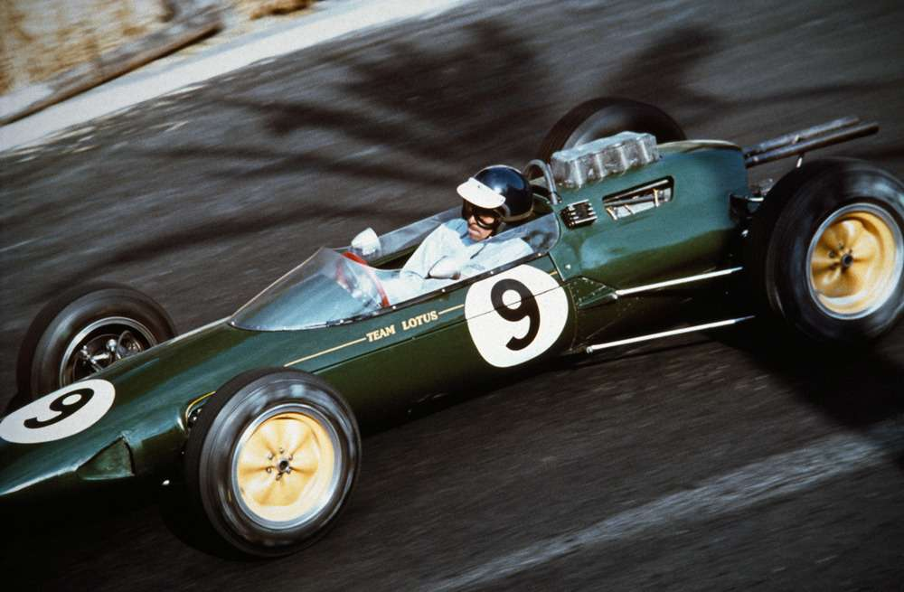Jesse Alexander.  Jim Clark in the Lotus-Climax, 1963