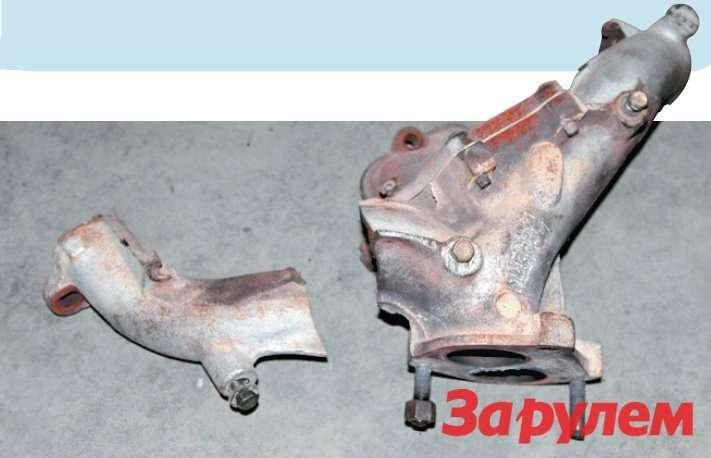 Нанедавно отремонтированной «ГАЗели» вновь лопнул коллектор