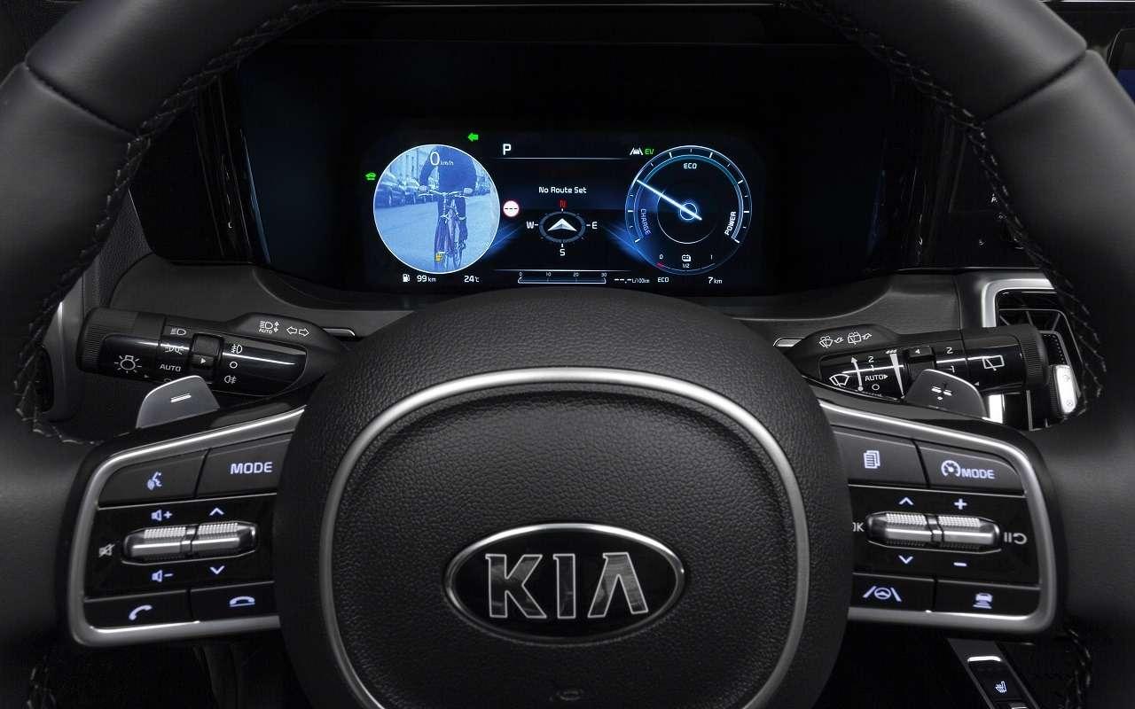 Парковка спульта: новые подробности оновом Kia Sorento— фото 1095533