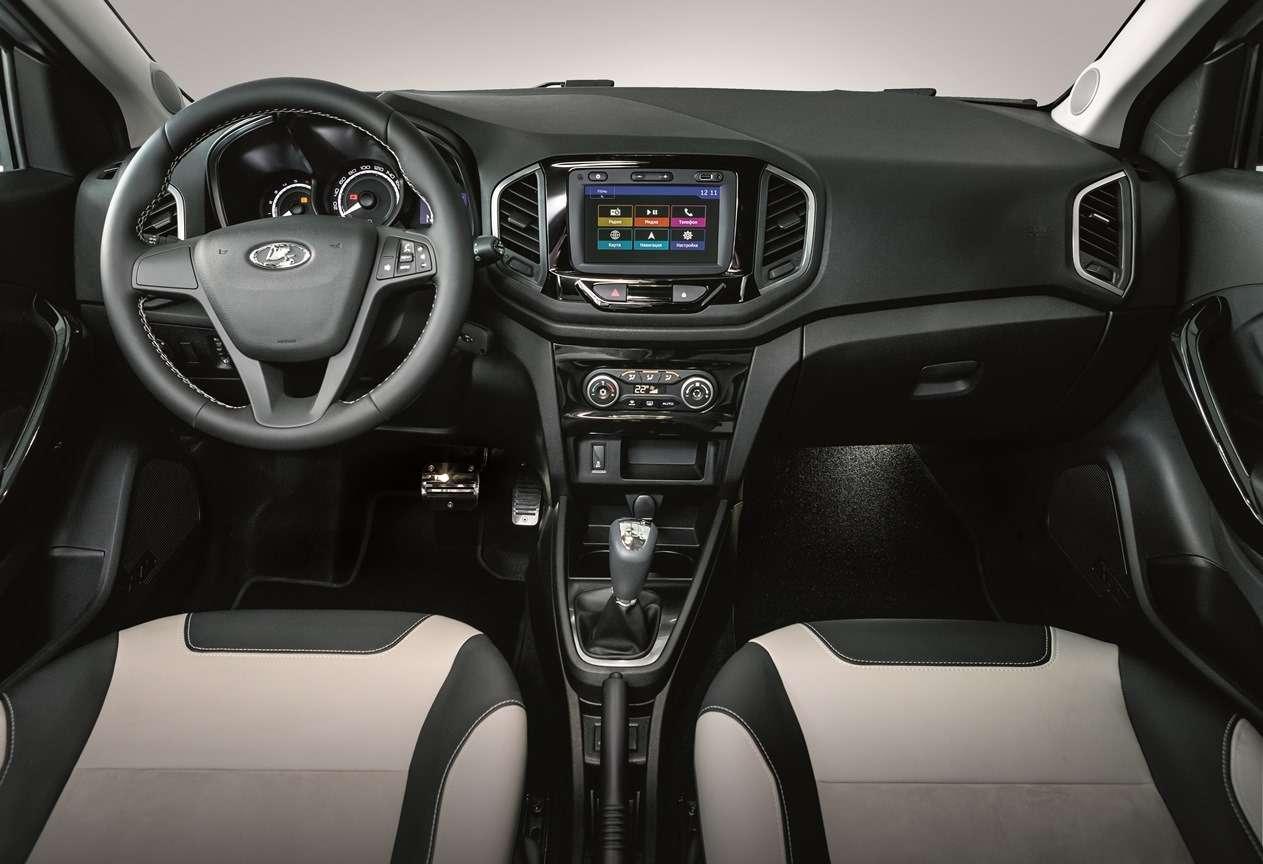 Lada XRAY вэксклюзивной комплектации— шильдик, вышивка, подсветка— фото 766857