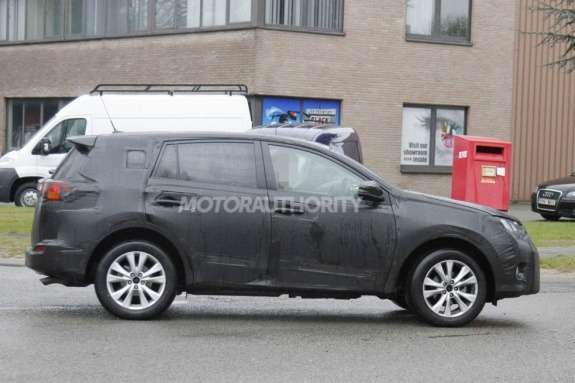 Next Toyota RAV4 test prototype side view