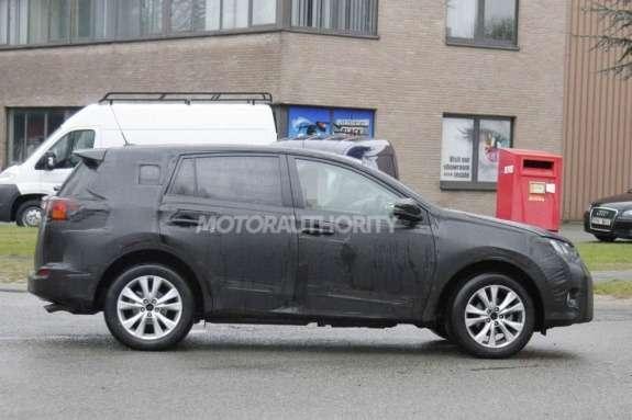 Next Toyota RAV4 test prototype side view