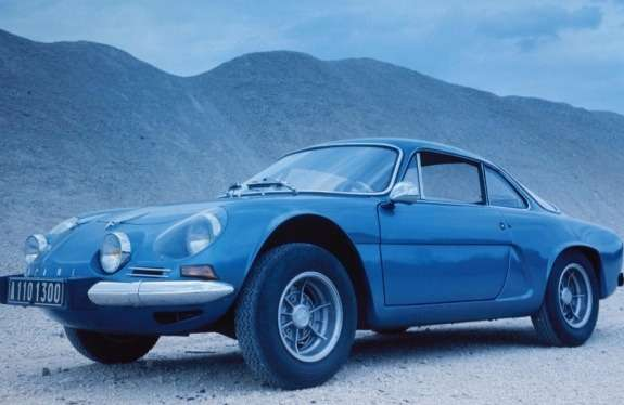 Alpine A110 side-front view