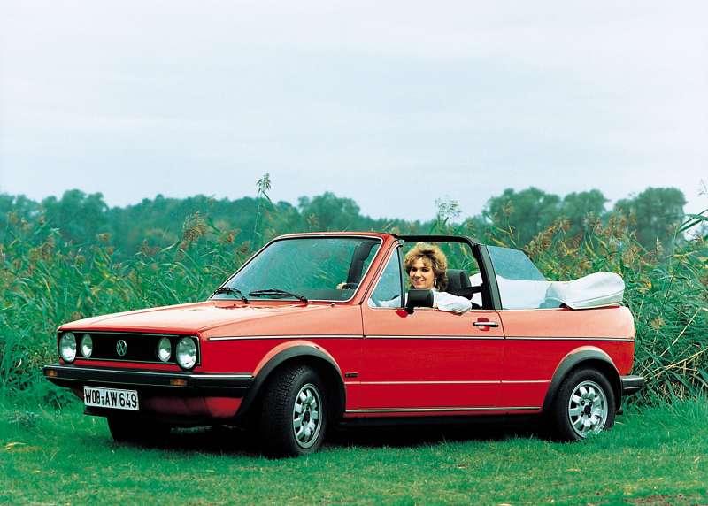 Кабриолет Volkswagen Golf выпускался с1979 года.