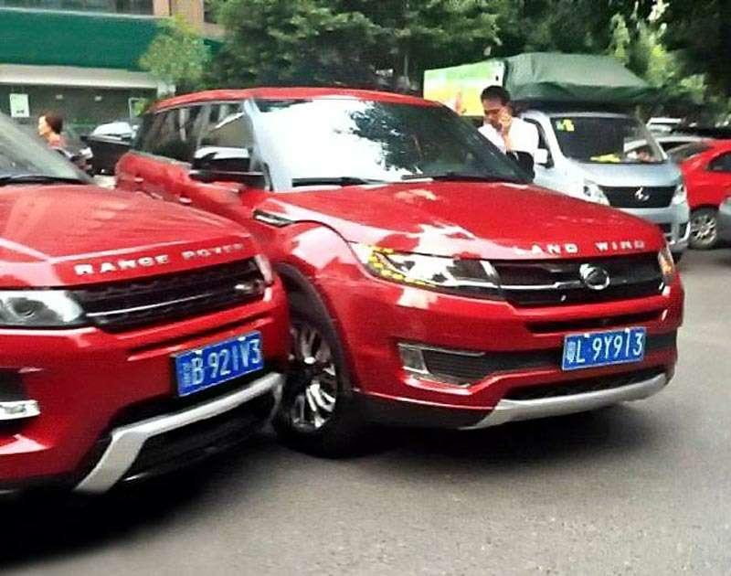 Атака клона: вКитае столкнулись Range Rover Evoque иего копия— фото 615397