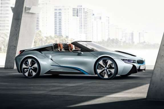 BMW i8 Spyder Concept side-front view