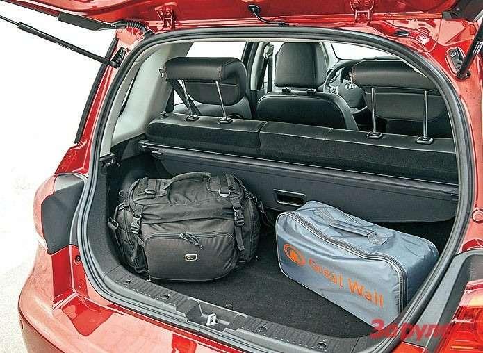 Багажник совсем небольшой. Носпинка дивана складывается.
