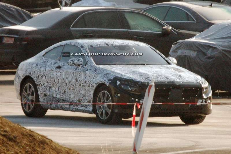 Mercedes-Benz S-class Coupe test prototype side-front view_no_copyright