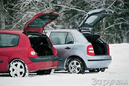 ТЕСТ Skoda Fabia, Renault Clio.