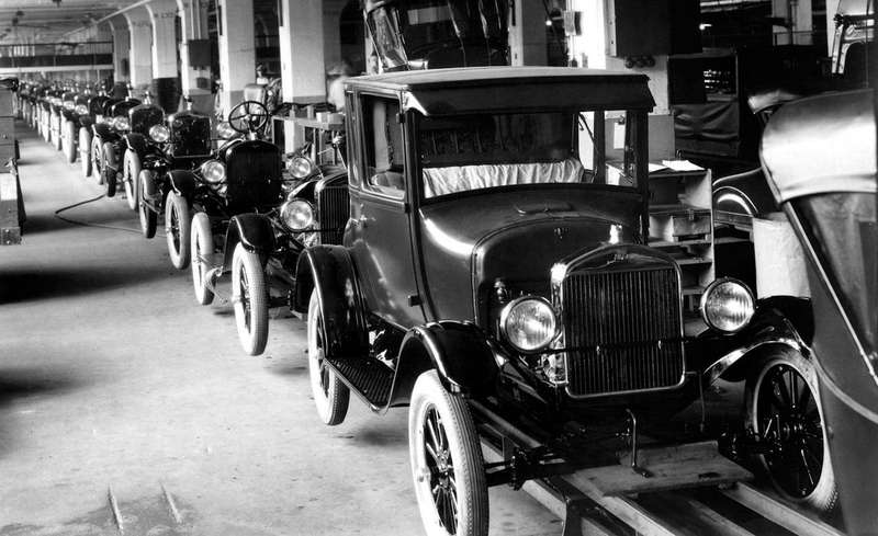 3 1926 ford model t assembly line no copyright