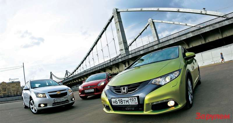 Chevrolet Cruze, Honda Civic, Ford Focus