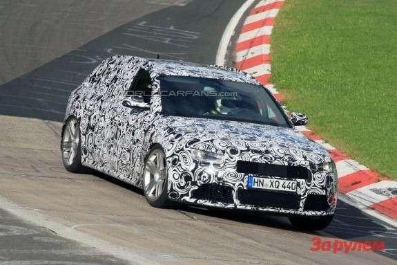 Audi RS4 Avant side-front view