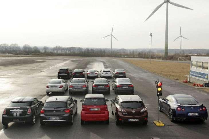 Тест наускорение автомобилей ссистемой start/stop.