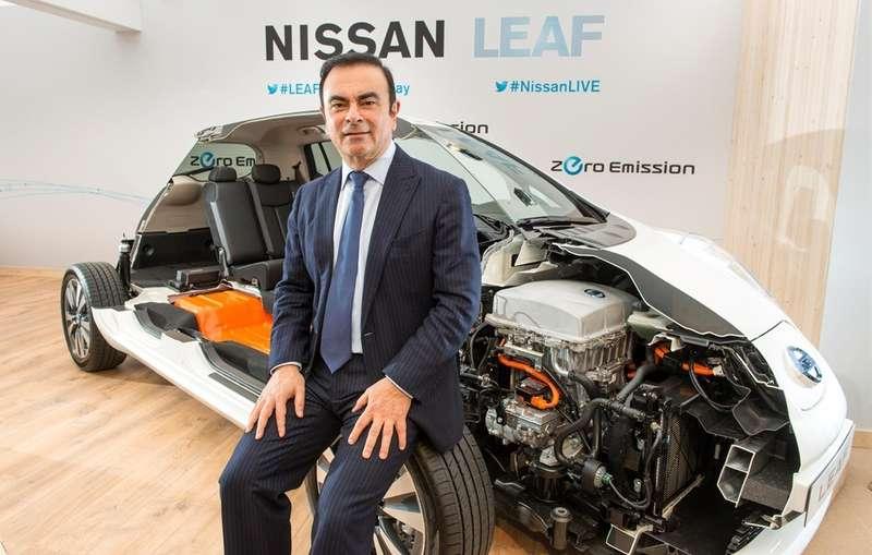 no copyright Carlos Ghosn Nissan CEO LEAF oslo