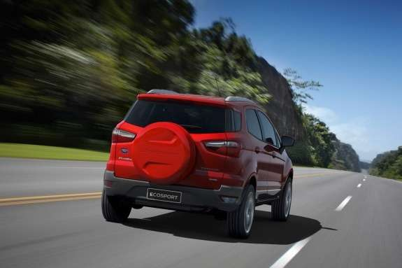 Ford EcoSport side-rear view