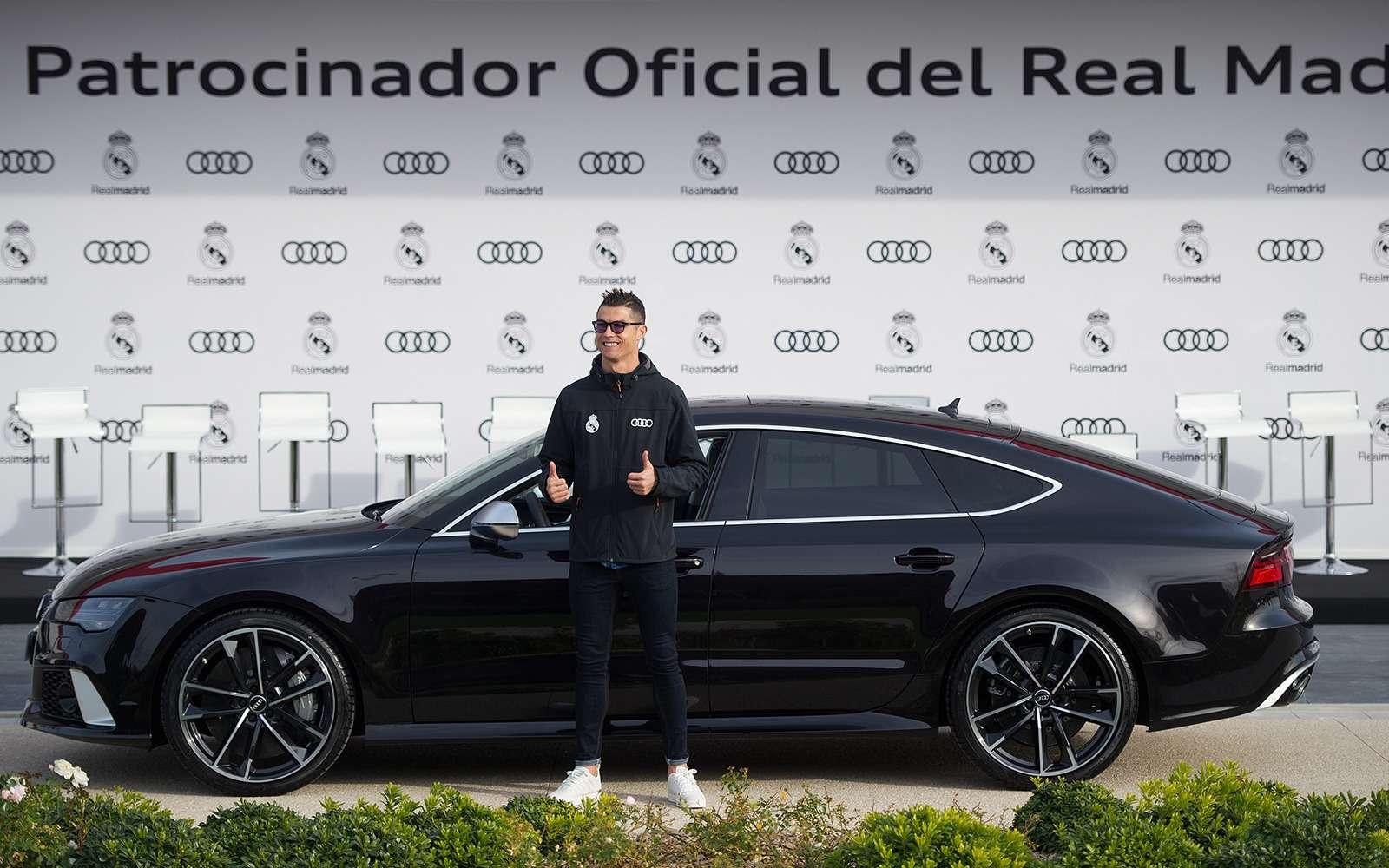 Вотэто спонсор! Audi раздала футболистам «Реала» машины— фото 819845