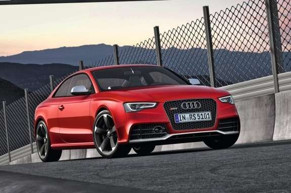 Restyled Audi RS5 side-front view
