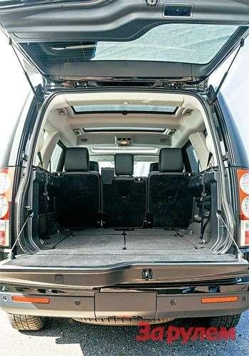 Багажник очень правильной формы, как исам автомобиль. Сиденья второго итретьего рядов складываются, образуя ровный пол. Втакой конфигурации даже холодильник здесь затеряется.