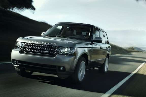 OldLand Rover Range Rover side-front view