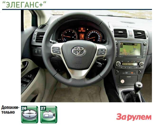 «Тойота-Авенсис», комплектация «Элеганс+»