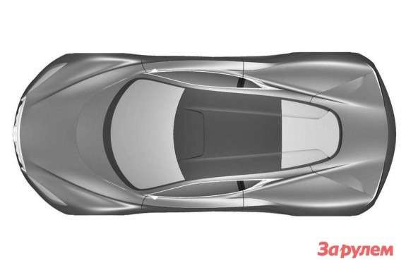Infiniti Emerg-E sketch top view