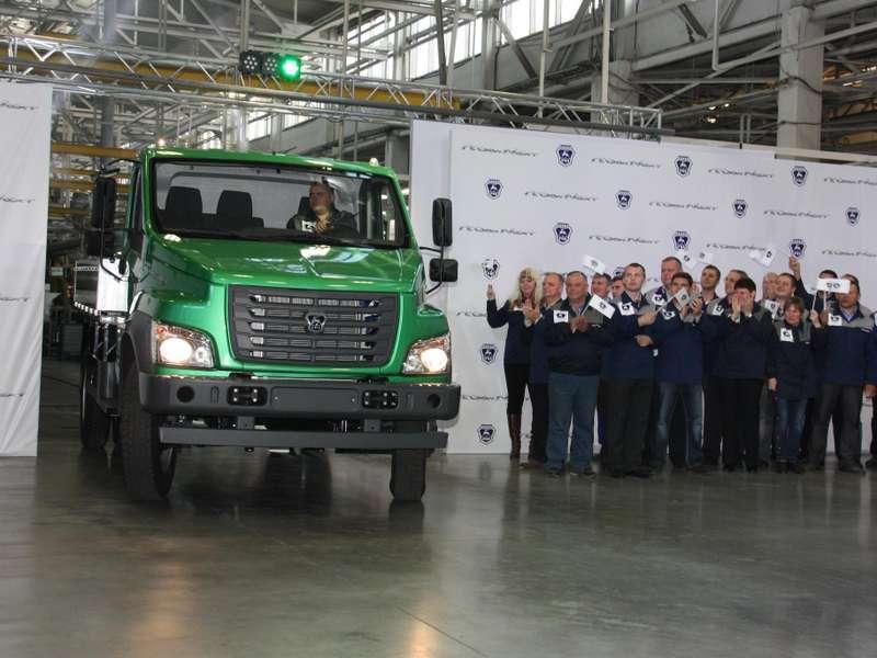 Сход сконвейера первого серийного автомобиля ГАЗон NEXT