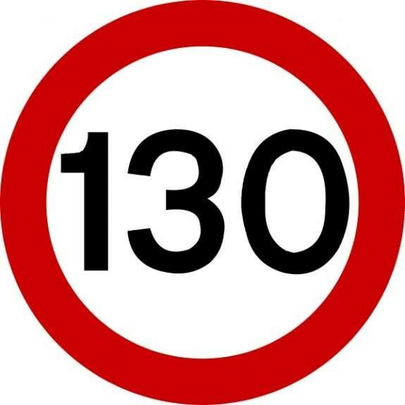traffic sign 130no copyright