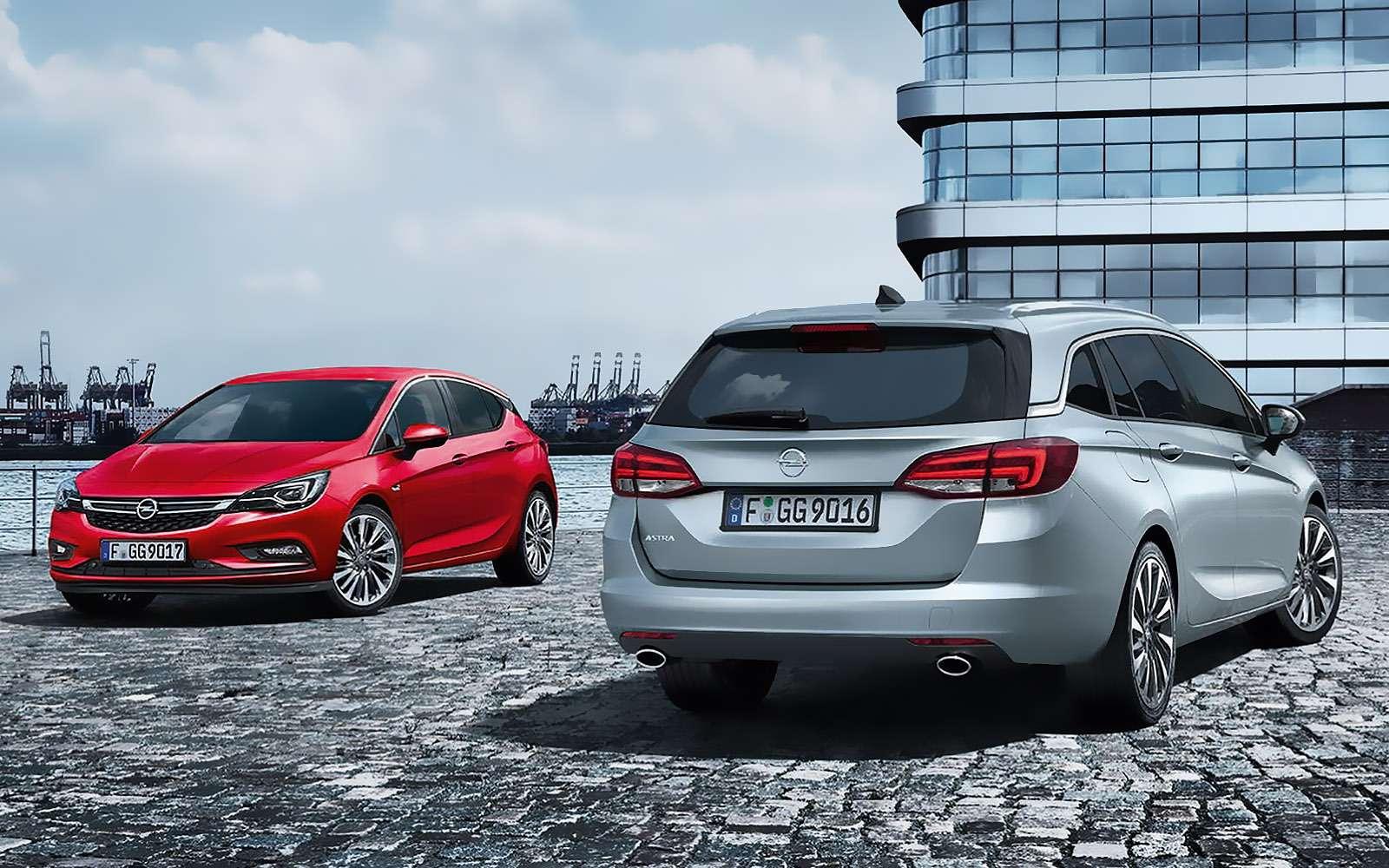 Opel Astra 2016 признали «Автомобилем года»