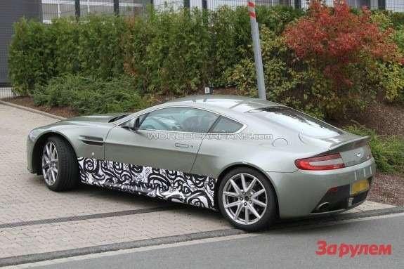 Aston Martin Vantage mule side-rear view