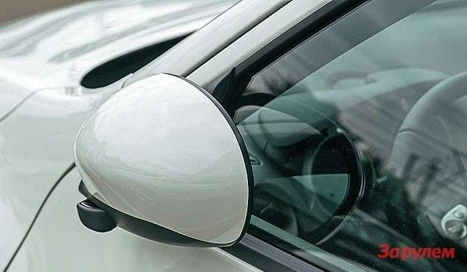 Электропривод складывания зеркал есть только всамой дорогой модификации— LE.
